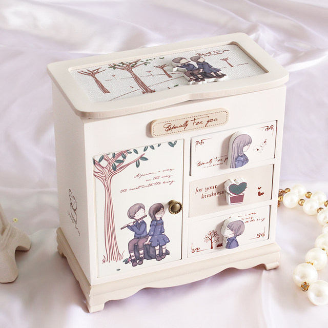Online Shop MYSTICA Wooden Storage Box Jewelry Container Makeup