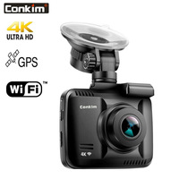 Conkim Car Dash Camera Wifi Recorder GPS HD DVR GS63H 4K Ultra HD 2160P Driving Recorder Auto Registrar Wifi Camera 32GB TF Card