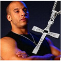 The Fast and Furious Crystal Cross Men Necklaces & Pendants Silver Color Maxi Steampunk collares Vintage Statement Necklace