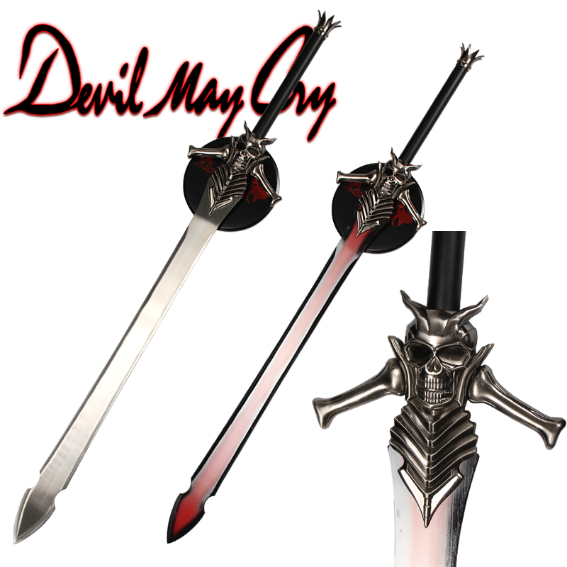Dante Weapon Stainless Steel Blade For Devil may cry Cosplay Props Fantasy Sword Decorative Ornament With Wooden Hanging Stand|Swords| |  - title=
