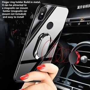 Image 3 - Xiaomi Mi מקסימום 2 מקרה עבור Xiaomi Mi Max2 3 9 8 10 Se A3 לייט פרו מקרה כיסוי יוקרה מזג זכוכית מגנט רכב מחזיק TPU מקרי