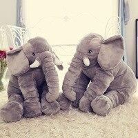 Comwarm لطيف نمط الحيوان الفيل شكل وسادة للطفل الأطفال النوم استخدام أريكة سرير غرفة المعيشة الرئيسية الديكور الفن