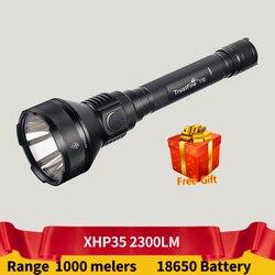 TrustFire T70 Taktische Taschenlampe Cree XHP35 2300LM 1000m Abstand Wiederaufladbare LED Taschenlampe für Gewehr Jagd PK M3X