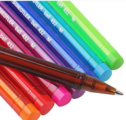10pcs/lot STAEDTLER color triangle ballpoint pen M nib 0.7mm gel pen signing pen student stationery school office supplies 6pcs set german staedtler gel pen fiber pen signing pen ballpoint pen mechanical pencil highlighter pen marker 34 sb6b 0 5mm