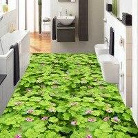 Бесплатная доставка на заказ пастбища цветы 3D пол украшения живопись торговый центр зала ванная комната полы самоклеящиеся росписи обоев