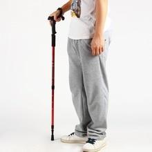 Durable Adjustable AntiShock Hiking Cane Walking Pole Trekking Stick Crutches