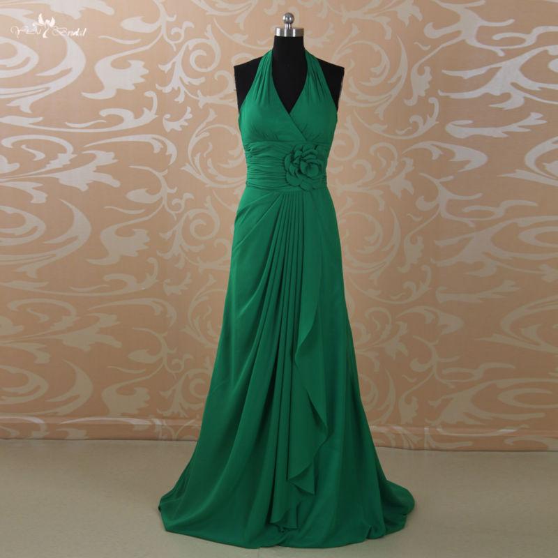Emerald Green Halter Bridesmaid Dress