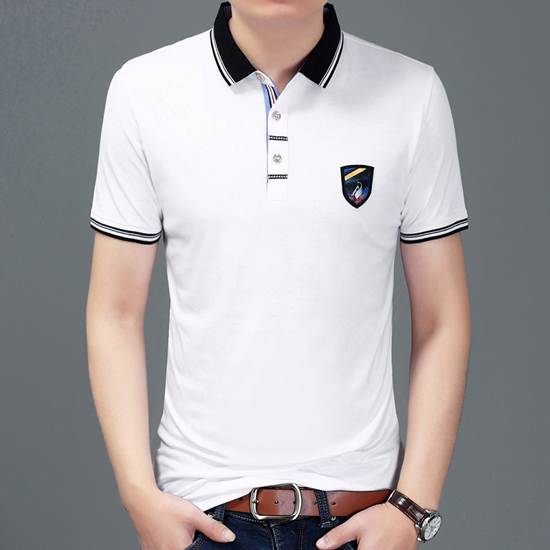 2019 New Fashions Brand Summer   Polo   Shirt Men's British Style Slim Fit Short Sleeve Solid Color Boys   Polos   Casual Men Clothes