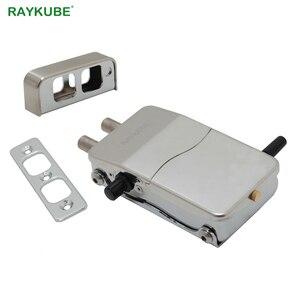 Image 2 - RAYKUBE serrure de porte électronique avec télécommande clés ouverture Invisible serrure intelligente sans fil sans clé serrure de porte R W39