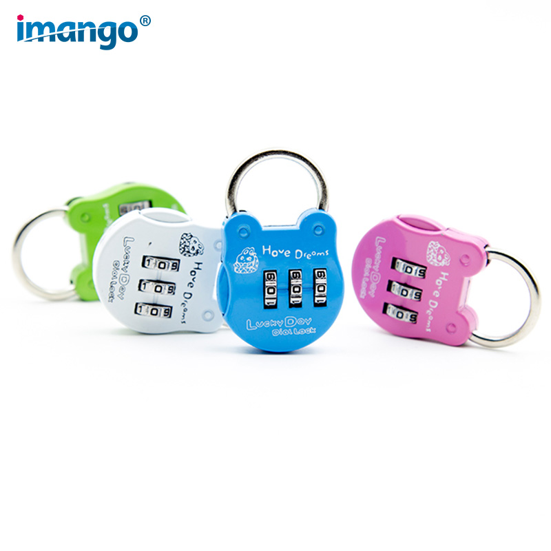 купить Color Back Bag Package Password Lock Diary, Luggage Password Lock Outdoor Luggage Small Lock Round Frog Shape Cartoon Padlock по цене 307.35 рублей