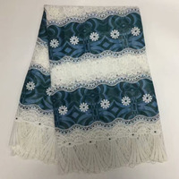 Wholesale African Guipure Lace Fabric High Quality Latest Nigeria Laces 2018 African Cord Lace Fabrics MM-335