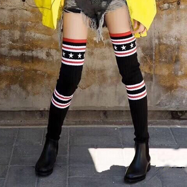 Women Boots flat over the knee high women snow boots Slim fashion winter thigh high boots  Sexy cheerleader shoes woman ALFG1588 2018 new winter women boots sexy over the knee high snow boots women s fashion winter thigh high boots shoes woman plus size 43