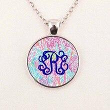 Custom Bohemian Stylish Lilly Pulitzer Monogram Necklace for Women,boucle d