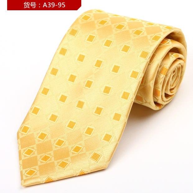 100% gravata De Seda Pura de Alta Qualidade Gravatas De Seda Para Homem Formal Comercial Gravata De Seda MenTie A39-95 Gravata Caixa de Presente