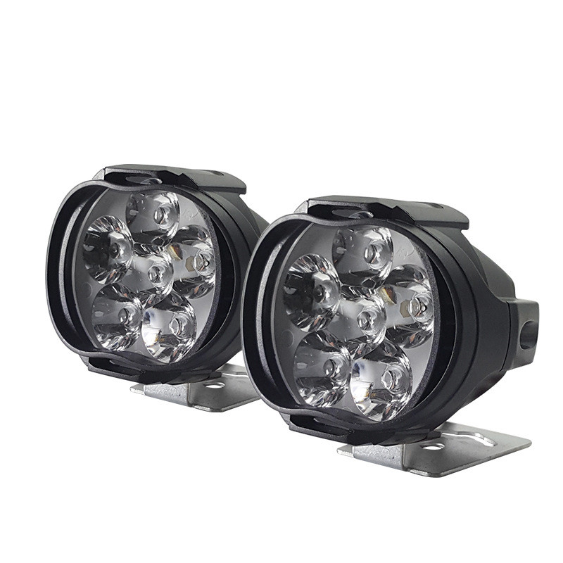 1000Lm Motorcycles LED Headlight IP65 Waterproof Super Bright Lamp Scooters Fog Spotlight 6500K White Working Spot Light 9-85V