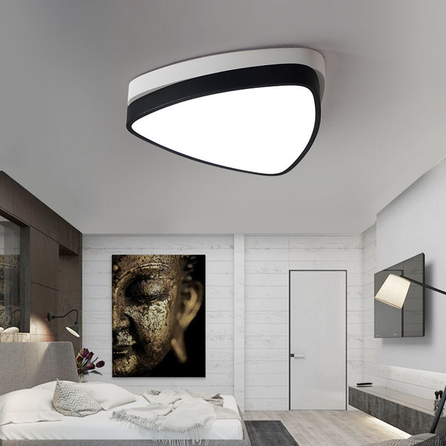 Art And Design Of Triangle Light Iron Pvc Ceiling Lights Living - Triangle bedroom design