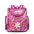 Детские школьные сумки в русском стиле для девочек  нейлоновый водонепроницаемый ортопедический рюкзак с изображением бабочек и цветов дл...