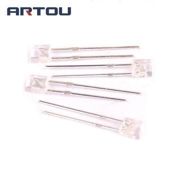 100 sztuk LED z płaskim 2*3*4 niebieski Superbright LED dioda elektroluminescencyjna lampa 2X3X4