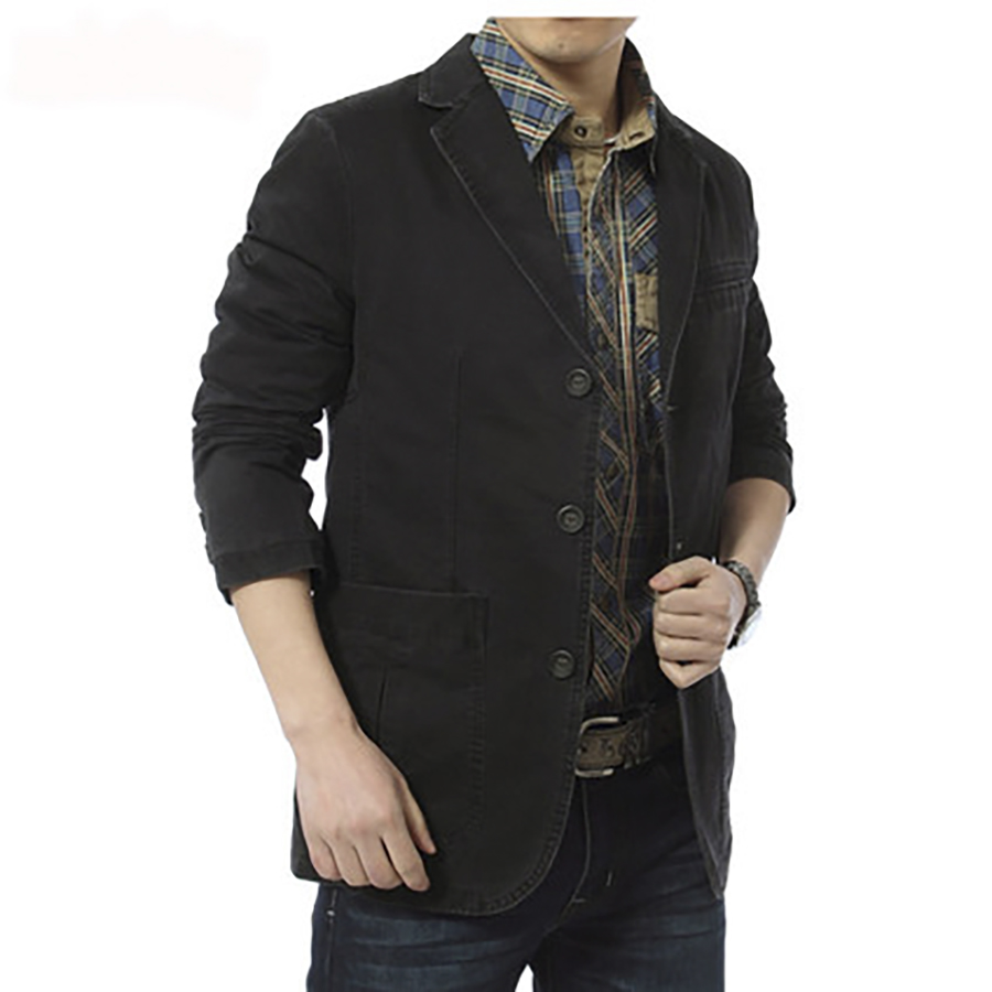 Suit Blazer Jacket Brown Wool Slim Men Casual Spring Masculino Male Fit Hombre High-Quality
