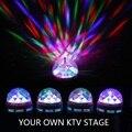 Новое поступление мини 3 Вт RGB из светодиодов освещение сцены лампы накаливания магический шар 220 В авто вращающийся диско DJ праздник лампа для бар KTV освещения