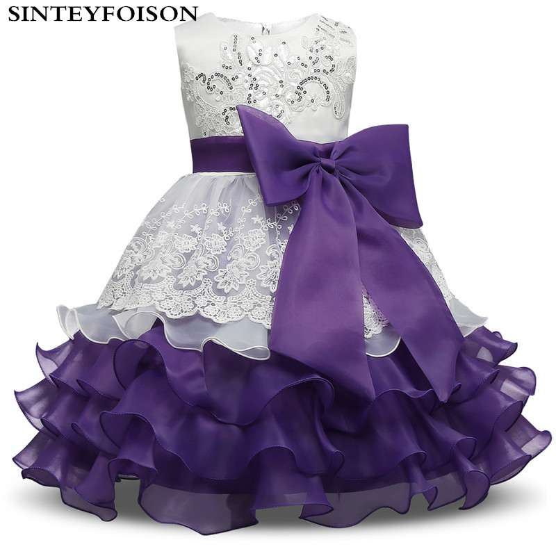 Brand Baby Girls Dress Children Kids Layered Dresses 3 4 5 6 7 8 Year Birthday Outfits Dresses Girls Evening Party Formal Wear name brand 7 3 7 3 3 5 20