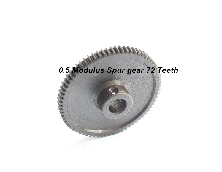 0.5 Modulus Spur Steel Gear 72 Teeth Hole Diameter 6MM Metal Gear 163 Straight Gear 0.5M 72T M3 Screw