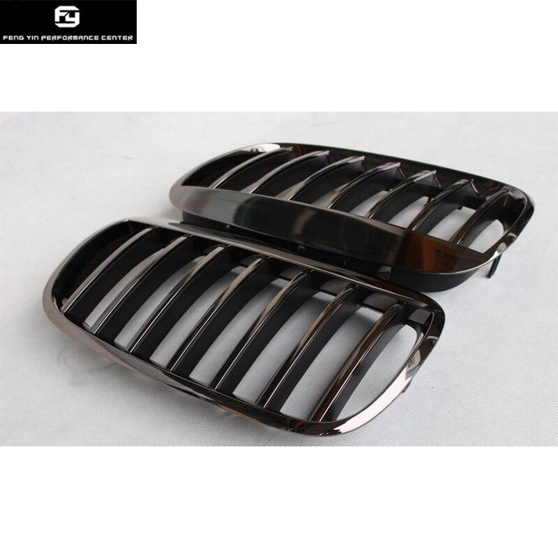 E70 X5 Tous Chrome Racing Grills ABS Mesh Grill Grille pour BMW E70 X5 pare-chocs avant 07-13