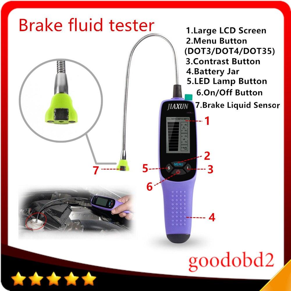 Цена за Высокое качество 3451L тестер тормозной жидкости, цифровой тормозной жидкости инспекции тестер со СВЕТОДИОДНЫМИ огнями, дисплей большой экран автомобильный тестер масла