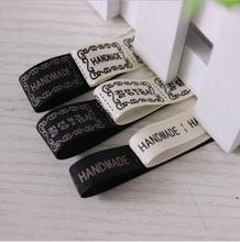 Boutique handmade ribbon manual DIY material English letter labels Ribbon trademark woven label cloth standard custom