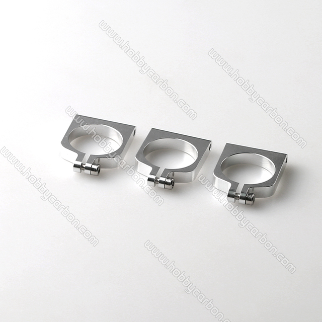 HCC006 free shipping  4pc/bag movable 16mm aluminum clamp/clip Carbon Fiber Tube Clamp for RC Hobby silver