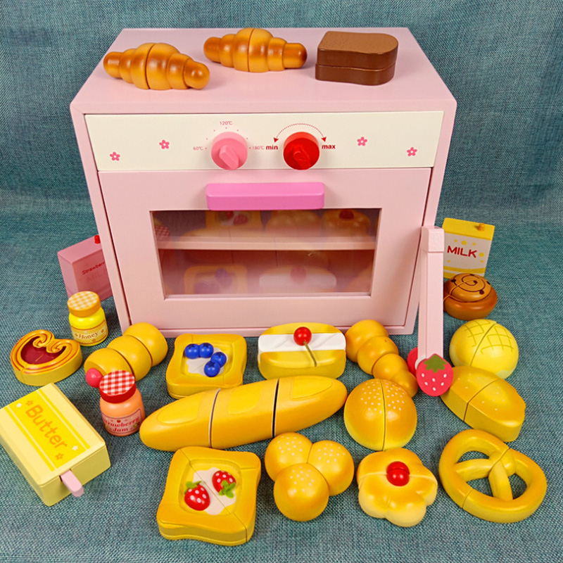New Wooden Toys Pretend Play Toy Food Cooking Simulation Tableware Children Kitchen Fruit Vegetable Magnetic Ice Cream Gift D167
