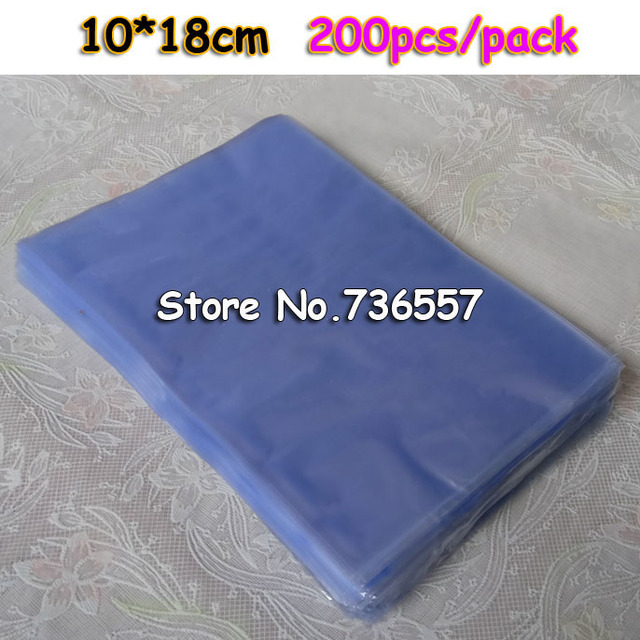 10x18cm 200pcs Shrink Bag Pvc Heat Bags Plastic Diy