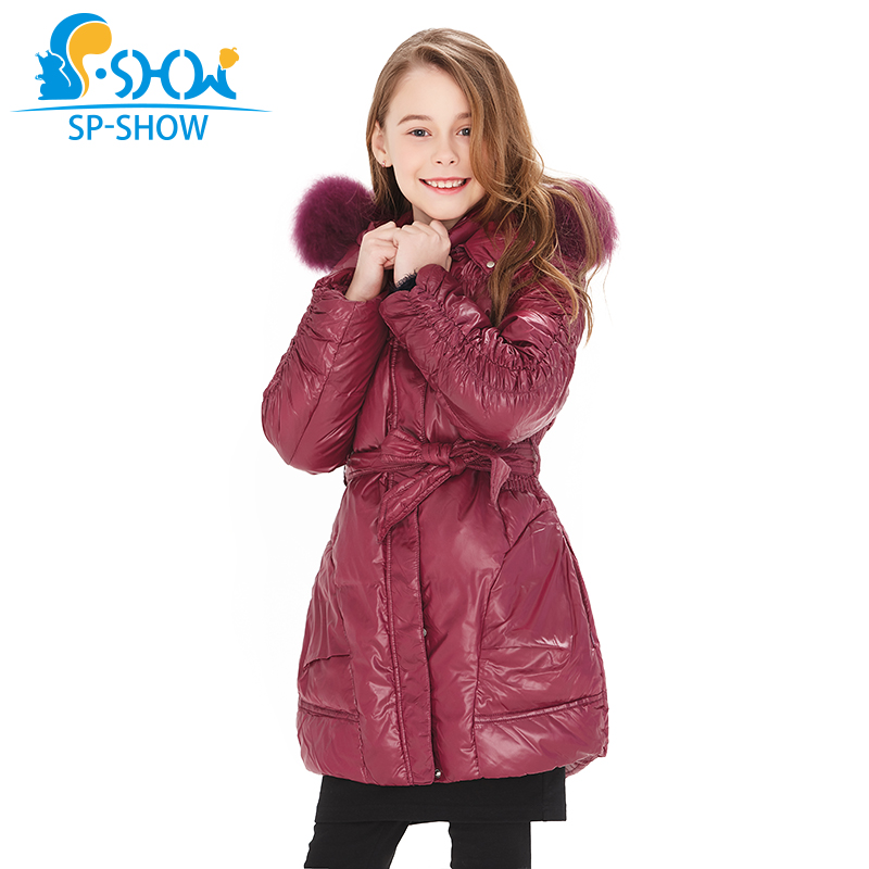 SP-SHOW Spring & Autumn New children's clothing girls duck down long coat