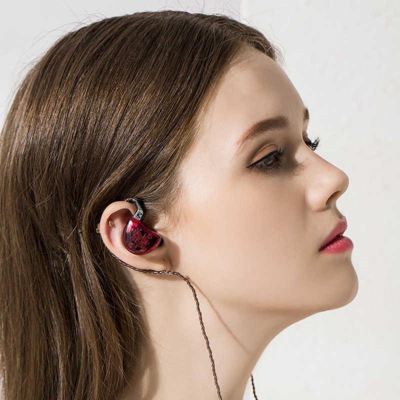 KZ ZS10 Headphones 4BA+1DD Dynamic Armature Earbuds HiFi Bass Headset Noise Cancelling In Ear Monitors hybrid Earphone+Bluetooth