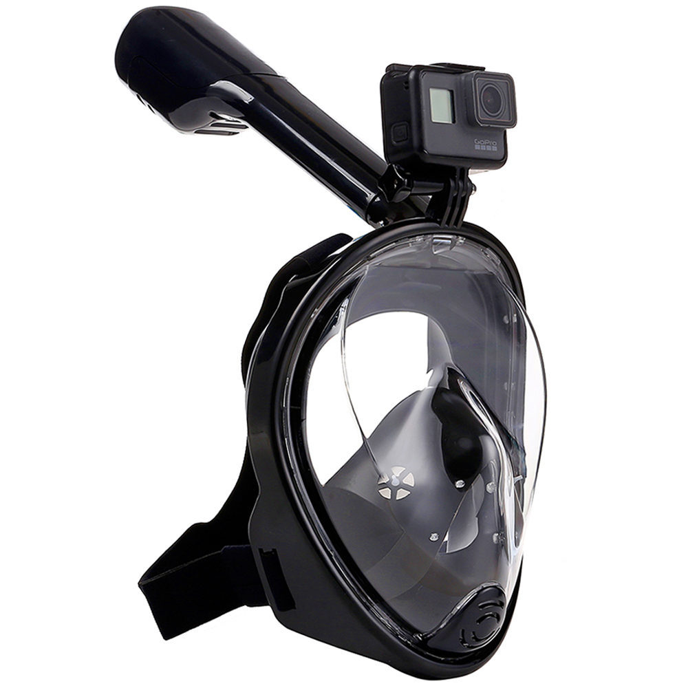 2017 New Full Face  Anti-fog Snorkeling Diving Mask Anti-skid Ring Snorkel Scuba GoPro Camera Snorkel Masks Underwater 2017 hot professional underwater camera diving mask scuba snorkel swimming goggles for gopro xiaomi sjcam sports camera