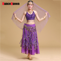 High Quality Belly Dance Suits For Ladies Yellow Red Rose Belly Costume Women Elegant Female Stage