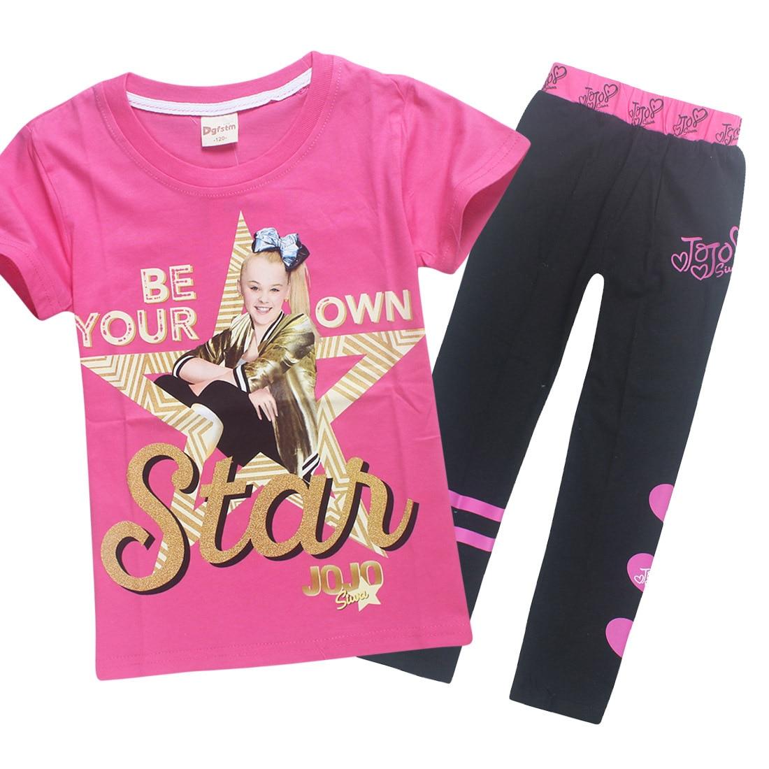 2PCS Kids Baby Girls Clothes Outfits Cotton T-shirt Tops Tracksuit+Pants Set US