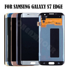 Для samsung GALAXY S7 край G935 G935F ЖК-дисплей Дисплей Сенсорный экран планшета 5,5 «для samsung S7 край G935 ЖК-дисплей Pantalla Замена