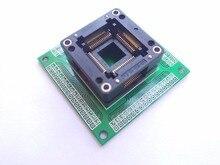 Livraison gratuite TQFP64 QFP64 LQFP64 À 64 adaptateur prise pas 0.8mm pour ATmega64 ATmega128 ATmega128AU tl866cs tl866a AVR mcu