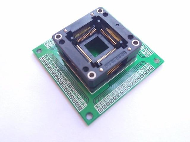 Trasporto libero TQFP64 QFP64 LQFP64 A 64 adattatore socket passo 0.8mm per ATmega64 ATmega128 ATmega128AU tl866cs tl866a AVR mcu