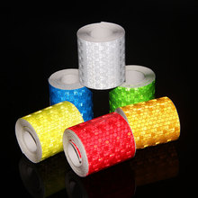 5CM*10M Car Styling Bicycle Safety Warning Conspicuity Reflective Adhesive Tape Stickers Scooter Motorcycle 13 Modle