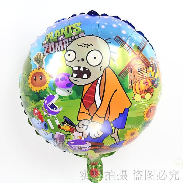 new arrival 20pcslots wholesale plants vs zombie foil balloon birthday party decor and party