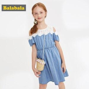 Image 2 - BalabalaBaby Girl Dress with Animals Princess short Sleeve Dresses Children summer Clothing for Kids