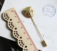Vintage Pins Uomini Spilla Pin per il Vestito Ottone Antico Gufo Spille 1960's Handmade
