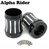 Edge 4 Exhaust Tips Merge Style Muffler End Cap Slotted for 1986 2016 Harley Touring Road King Street Electra Glide
