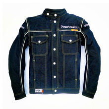 Off-road motorcycle knight jeans jersey motorcycle jacket automobile race clothing drop resistance Stand collar Lapel option
