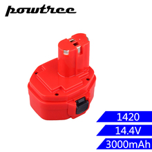 2000mAh 14.4V Ni-MH FOR MAKITA 1420 Rechargeable Battery: 1420 1422 1433 1434 1435 1435F 192699-A 193158-3 192600-1 стоимость