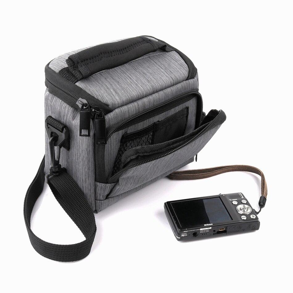 Hombro Cintura Cámara Bolsa De Nylon Negro para Samsung Smart NX1100 NX210 NX2000