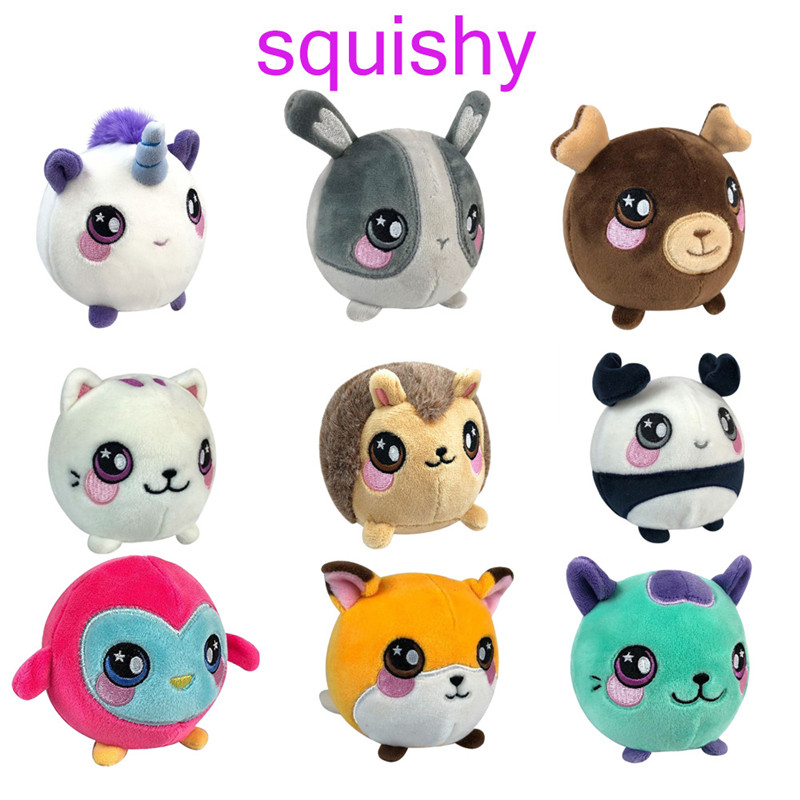 3.5'Kawaii Squishy Plush Toy Animal Stuffed Animal Decompression Squeeze Toy Slow Rising Best Christmas Birthday Gift