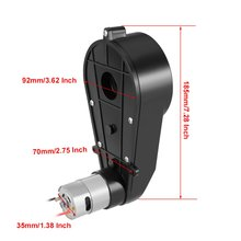 UXCELL DC 12V 10000RPM Electric Ride on Car Gearbox 550 Gear Box Motor with Motor High Quantity Hot Sale недорого
